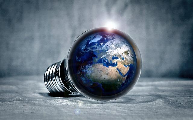 kontinenty v žárovce