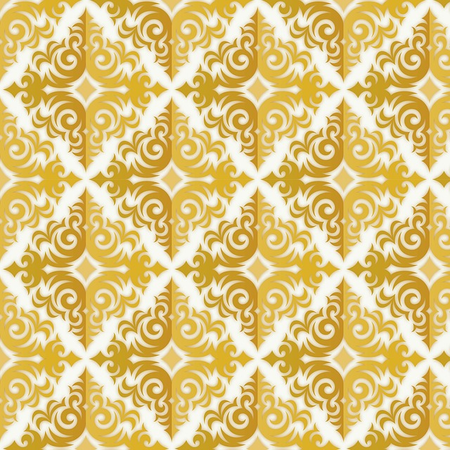 zlatý vzorek tapety