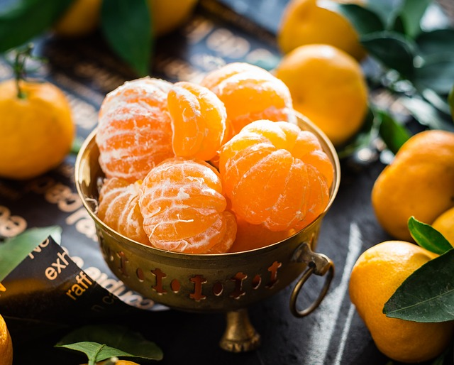 oloupané mandarinky